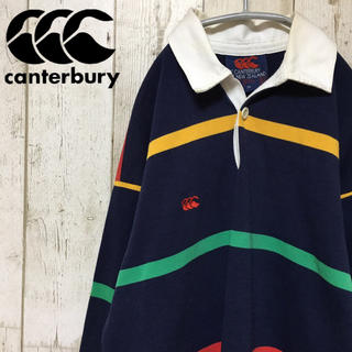 カンタベリー(CANTERBURY)の90s 古着系 ニュージランド製 カンタベリー マルチボーダー ラガーシャツ(ポロシャツ)