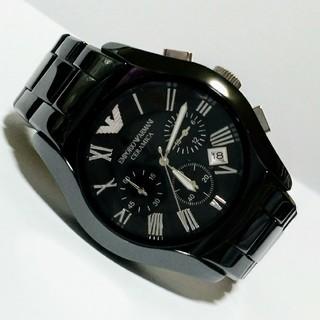 エンポリオアルマーニ(Emporio Armani)のEMPORIO ARMANI セラミカ クロノグラフ AR1400(腕時計(アナログ))