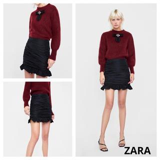 ザラ(ZARA)のZARA ドレープイリミニスカート 新品タグ付き♪(ミニスカート)