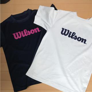 ウィルソン(wilson)のバドミントンTシャツ  Mサイズ(バドミントン)