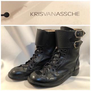クリスヴァンアッシュ(KRIS VAN ASSCHE)のKRISVANASSCHE クリスヴァンアッシュ レザーブーツ 42 27.0(ブーツ)