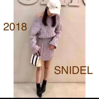 スナイデル(snidel)のSNIDEL 2018 パターン ニット ミニ ワンピース(ミニワンピース)