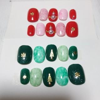 クリスマスネイル(2点セット)(つけ爪/ネイルチップ)