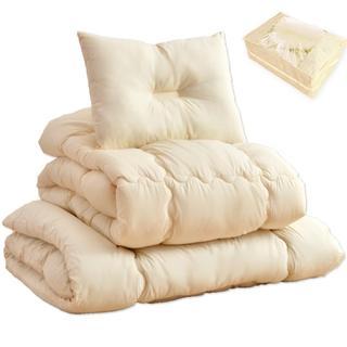 洗える布団セット 抗菌防臭・増量タイプ 布団セット アイボリー(布団)