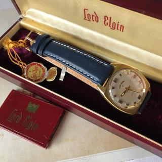 エルジン(ELGIN)の【レア】LORD ELGIN ロードエルジン 自動巻 1971年 ケース付き(腕時計(アナログ))