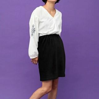 イーハイフンワールドギャラリー(E hyphen world gallery)の新品★コーデュロイスカート(ひざ丈スカート)