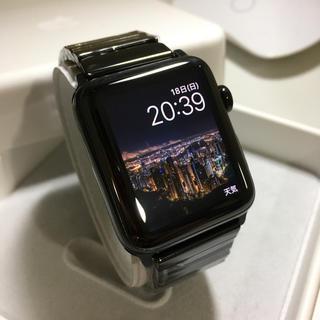 アップルウォッチ(Apple Watch)のApple Watch series3 ブラックステンレス セルラーモデル(その他)