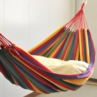 優雅な時間を ハンモック2人用 約200×160cm(寝袋/寝具)