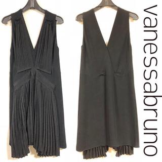 サカイ(sacai)の美品!vanessa bruno ブラックドレス 36サイズ(ひざ丈ワンピース)