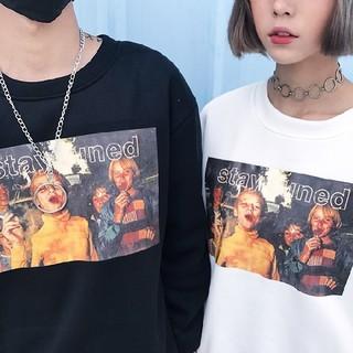 二色展開 韓国ファッション オルチャン ストリート グラフィック トレーナー(スウェット)