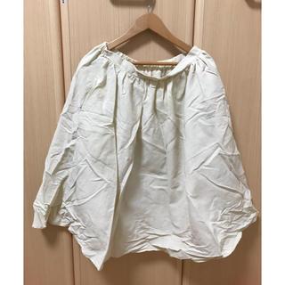 スピンズ(SPINNS)のホワイト スカート 膝下丈 (ひざ丈スカート)