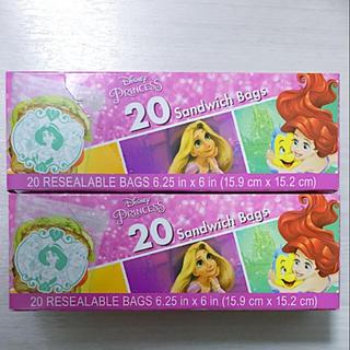 ディズニー(Disney)のジップロック 2箱 プリンセス アメリカ限定 Ziplock ハワイ コストコ (収納/キッチン雑貨)