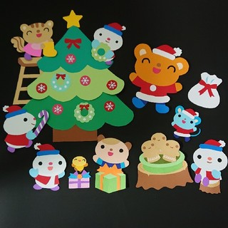 壁面 クリスマス(型紙/パターン)