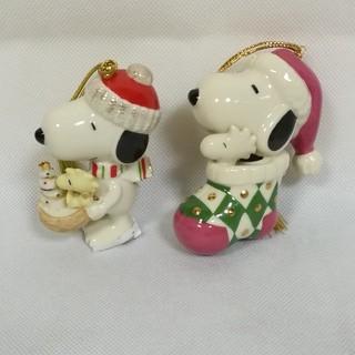 ピーナッツ(PEANUTS)の美品 PEANUTS LENOX ピーナッツ レノックス クリスマスオーナメント(キャラクターグッズ)