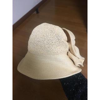 カシラ(CA4LA)の帽子 レディース 美品 カシラ (麦わら帽子/ストローハット)