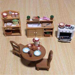 エポック(EPOCH)のシルバニア ♡ キッチン家具セット(キャラクターグッズ)