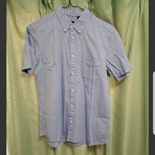 ハレ(HARE)の送料無料!HARE ボタンダウンピンオックスシャツ 半袖 M ブルー(シャツ)
