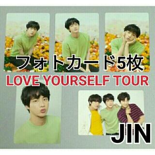 BTS【ジン】ミニフォトカード Mini Photo Card バンタン ツアー(K-POP/アジア)