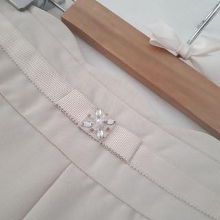 ネットディマミーナ(NETTO di MAMMINA)のウエストビジューつきフレアスカート(ひざ丈スカート)