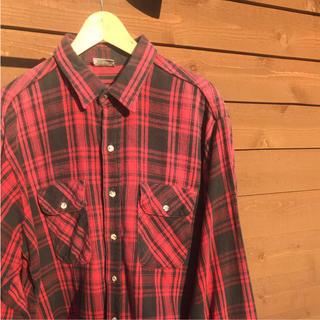 ウエアハウス(WAREHOUSE)のネルシャツ FIVE BROTHER   made  in  usa(シャツ)