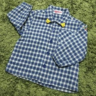 ミキハウス(mikihouse)のMIKI HOUSE 長袖ボタンシャツ(シャツ/カットソー)