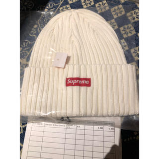 Supreme - supreme  Overdyed Ribbed Beanie 白