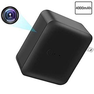 小型カメラ 隠しカメラ 1080P高画質 長時間録画 電池式 ACアダプター型 (防犯カメラ)
