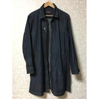 コムサイズム(COMME CA ISM)のpurple &yellowのデニムシャツコート(Gジャン/デニムジャケット)