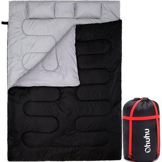 【バカ売れ】寝袋 封筒型 2人用 丸洗いok シュラフ(寝袋/寝具)