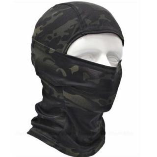 ☆送料無料★ブラック×森林迷彩 高機能3Wayフェイスマスク(その他)