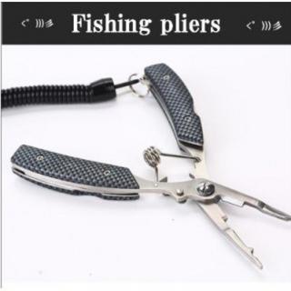 フィッシングプライヤー 釣り具 ステンレス アウトドア モザイクブラック(その他)