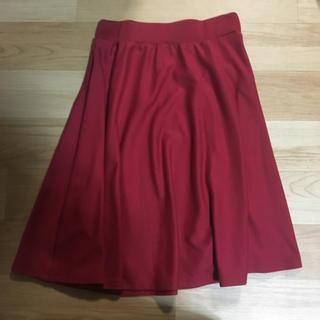 コルザ(COLZA)の赤スカート(ひざ丈スカート)
