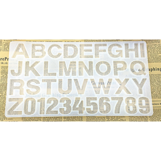 シリコンモールド型 アルファベット&数字 特大サイズ(型紙/パターン)