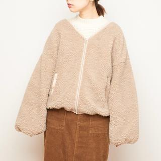 ナチュラルクチュール(natural couture)のnatural couture:ボアジャケット(ブルゾン)