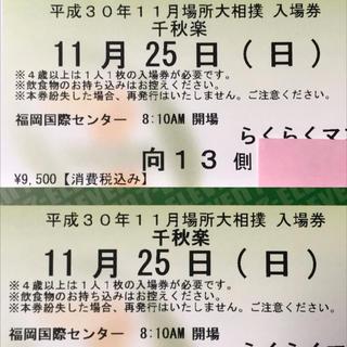 大相撲九州場所 千秋楽 らくらくマスチケット(相撲/武道)