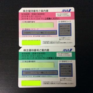 ANA株主優待券2枚 おまけ付 (その他)