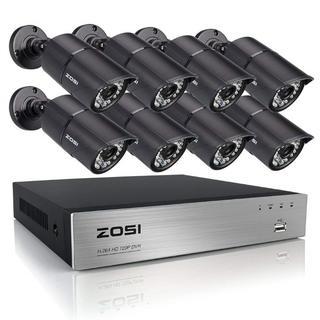 230万画素防犯カメラ8セットフルハイビジョンHDD無(防犯カメラ)