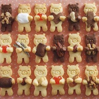 くま クッキー型(型紙/パターン)