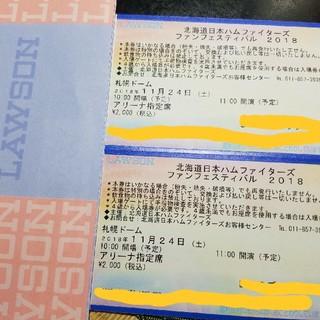 日本ハムファイターズ ファンフェスティバル2018 アリーナ指定席 2枚連番(野球)