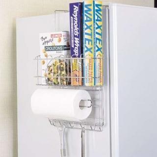 ★即日発送★ 便利な冷蔵庫 サイド 収納 ラック(収納/キッチン雑貨)