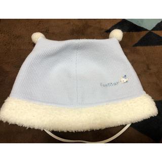 ファミリア(familiar)のファミリア 水色 冬の帽子 41cm 60 70 ベビー(帽子)