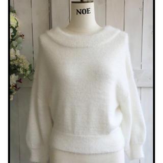 ノエラ(Noela)のNoela フェレットライクニット ホワイト フリーサイズ(ニット/セーター)