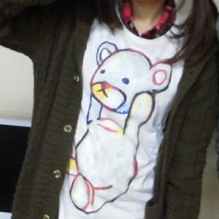 Design Tshirts Store graniph - graniph コントロールベア Tシャツ 白