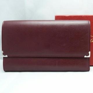 カルティエ(Cartier)の三つ折り長財布 マストライン ボルドー カルティエ(財布)
