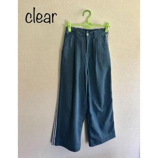 クリア(clear)の【美品】clear デニム ワイドパンツ(デニム/ジーンズ)