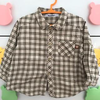 ファミリア(familiar)の【90㎝】 ファミリア チェック柄シャツ(Tシャツ/カットソー)