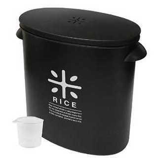 米びつ 5kg ブラック(収納/キッチン雑貨)