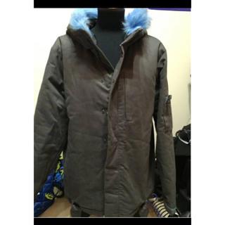 ウィズ(whiz)の人気!whiz ブルーファーデザイン中綿入り厚手デザインジャケット(ブルゾン)