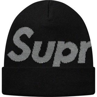 Supreme - Big Logo Beanie  ビーニー 黒