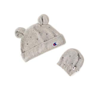 コドモビームス(こどもビームス)の最終値下げ✧︎Champion☺︎チャンピオン ベロア帽子&ミトンセット(帽子)